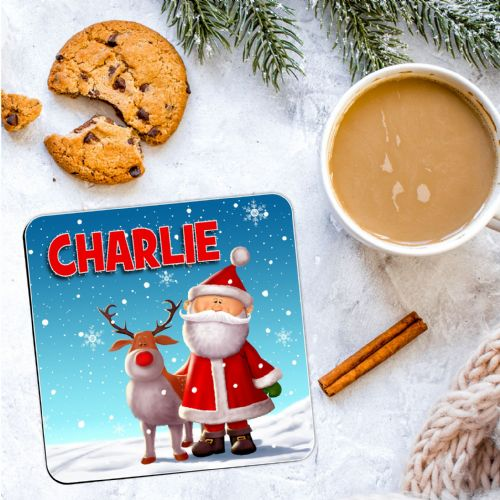 Personalised Christmas Coaster N18  - ANY NAME